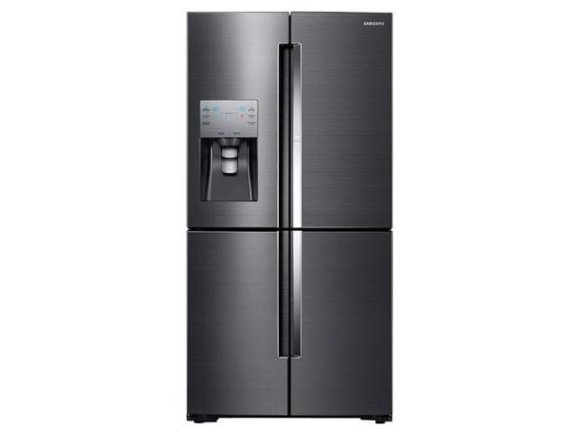 Samsung's four-door fridge in black stainless