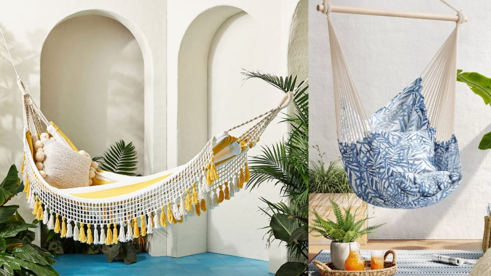 Kick up your feet in these comfy and stylish hammocks.