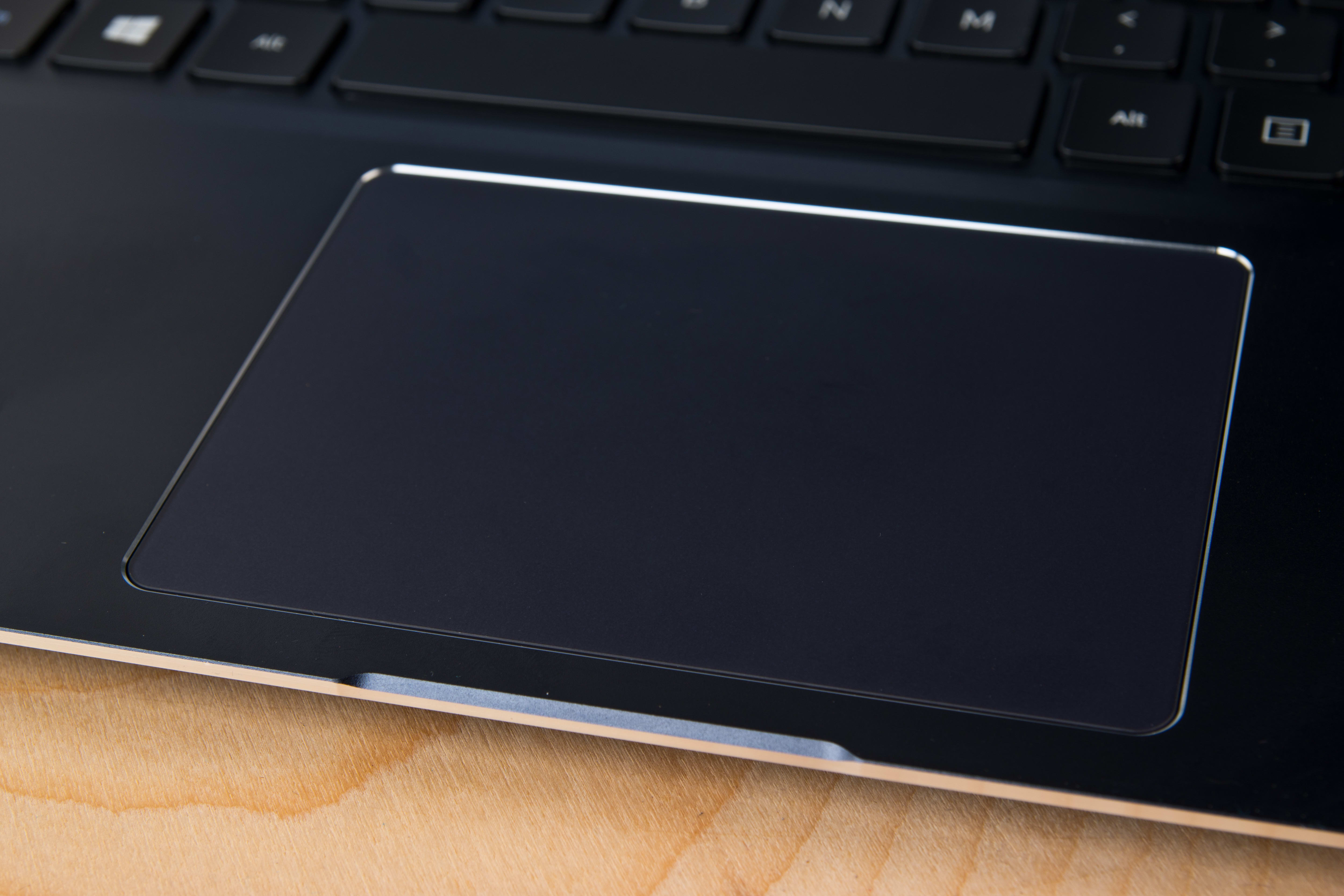 A photograph of the Samsung ATIV Book 9 2014 Edition's touchpad.