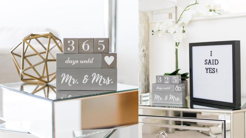 Best engagement gifts: Wedding countdown blocks