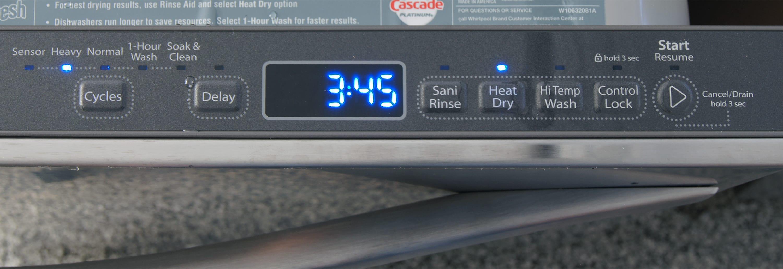 Whirlpool Gold WDT720PADM controls