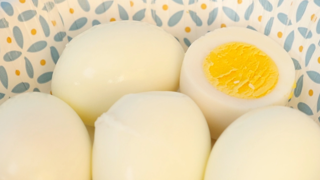 Dash rapid egg cooker review: Hard-boiled eggs