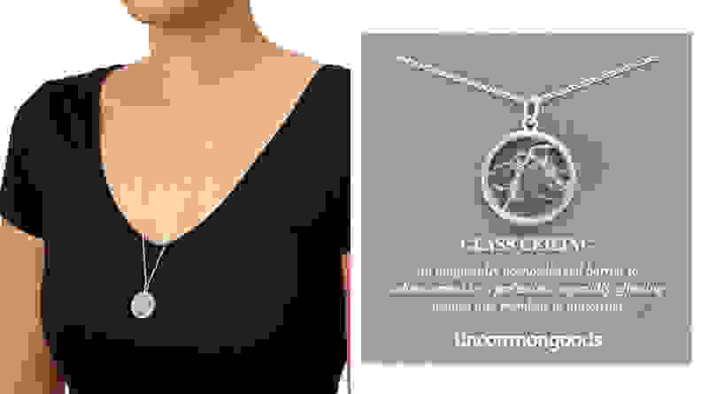 For the ambitious grad: Shattered Glass Ceiling Necklace