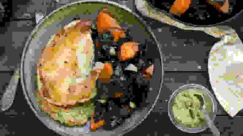 Sun Basket chicken and kale
