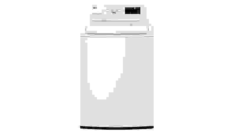 The LG WT7100CW top-load washing machine on a white background.