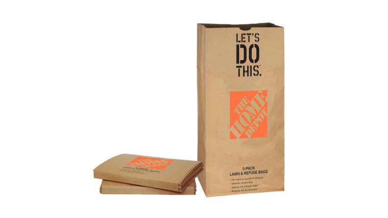 Home Depot yard bags