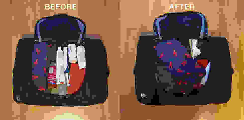 Bag: Before and After Shaking