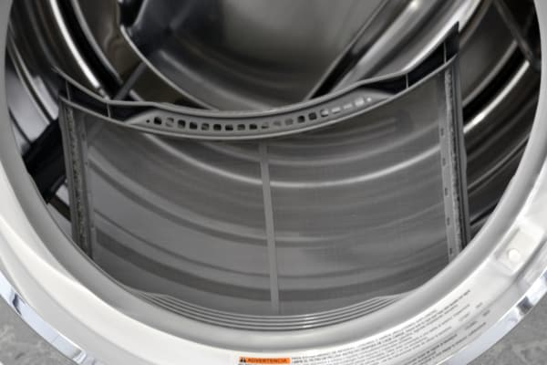 The Electrolux EWMGD70JIW has a conventional lint trap for a somewhat unconventional dryer.