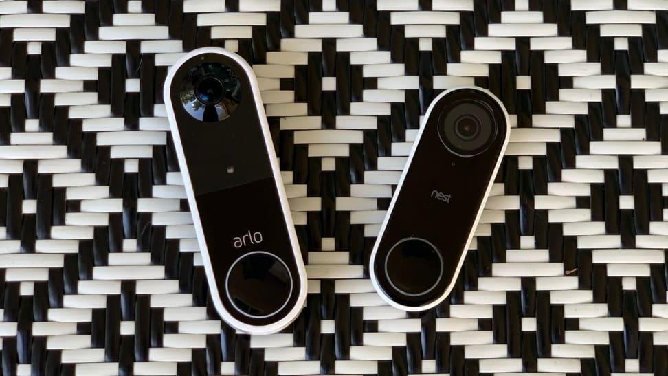 Arlo Essential Wire-Free Video Doorbell and the Google Nest Hello video doorbell