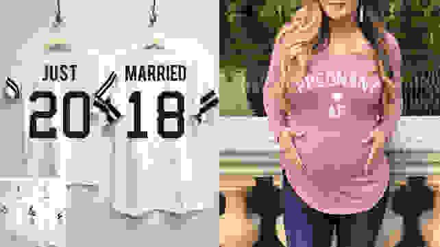 Custom Wedding and New Parent Shirts