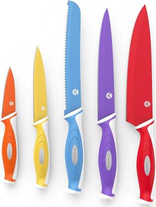 Product Image - Vremi 5 Piece Colorful Knife Set