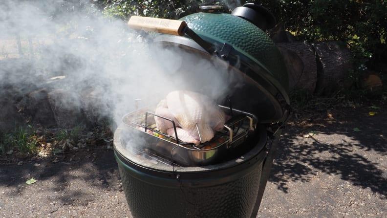 Smoking a Turkey: Add the Turkey