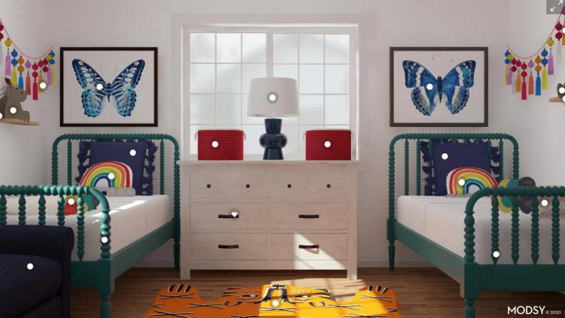 Twin bed rendering