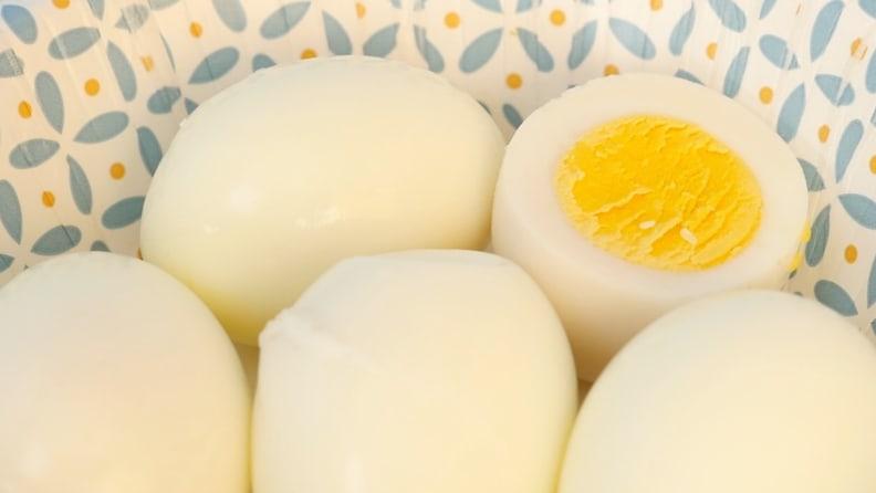 Dash rapid egg cooker review: Hard-boiled eggs