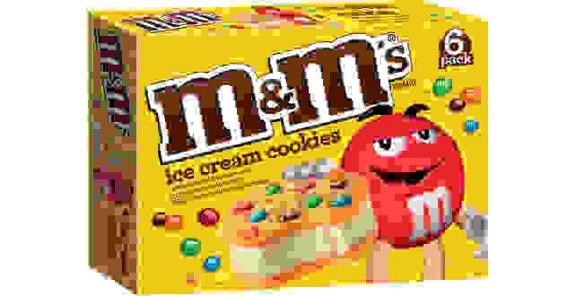 M&M cookie sandwich
