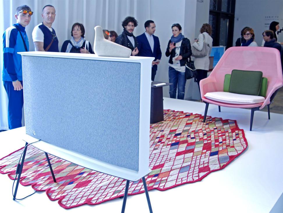 Samsung Serif TV Crowds Milan Design Week