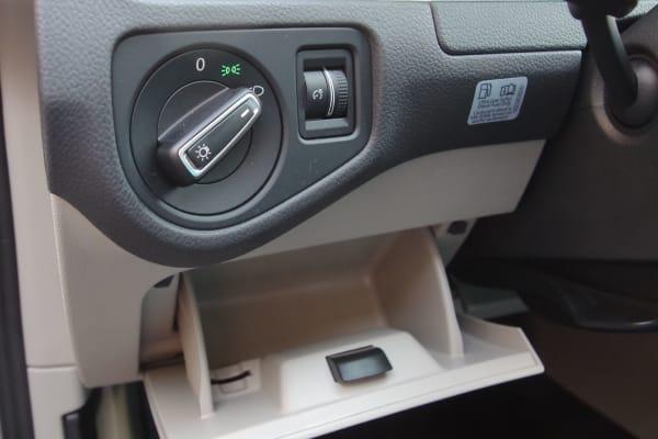 2015 VW Golf hidden storage