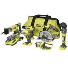 Ryobi 6-tool lithium ion combo kit