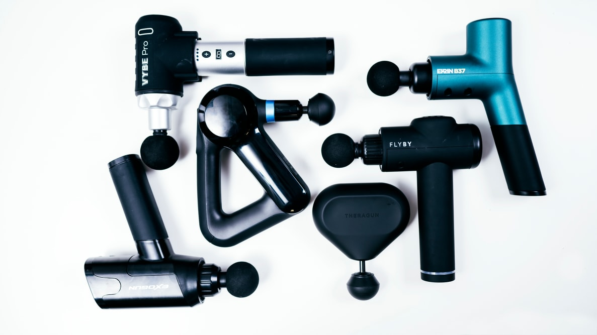 Photo of various high-quality massage guns.