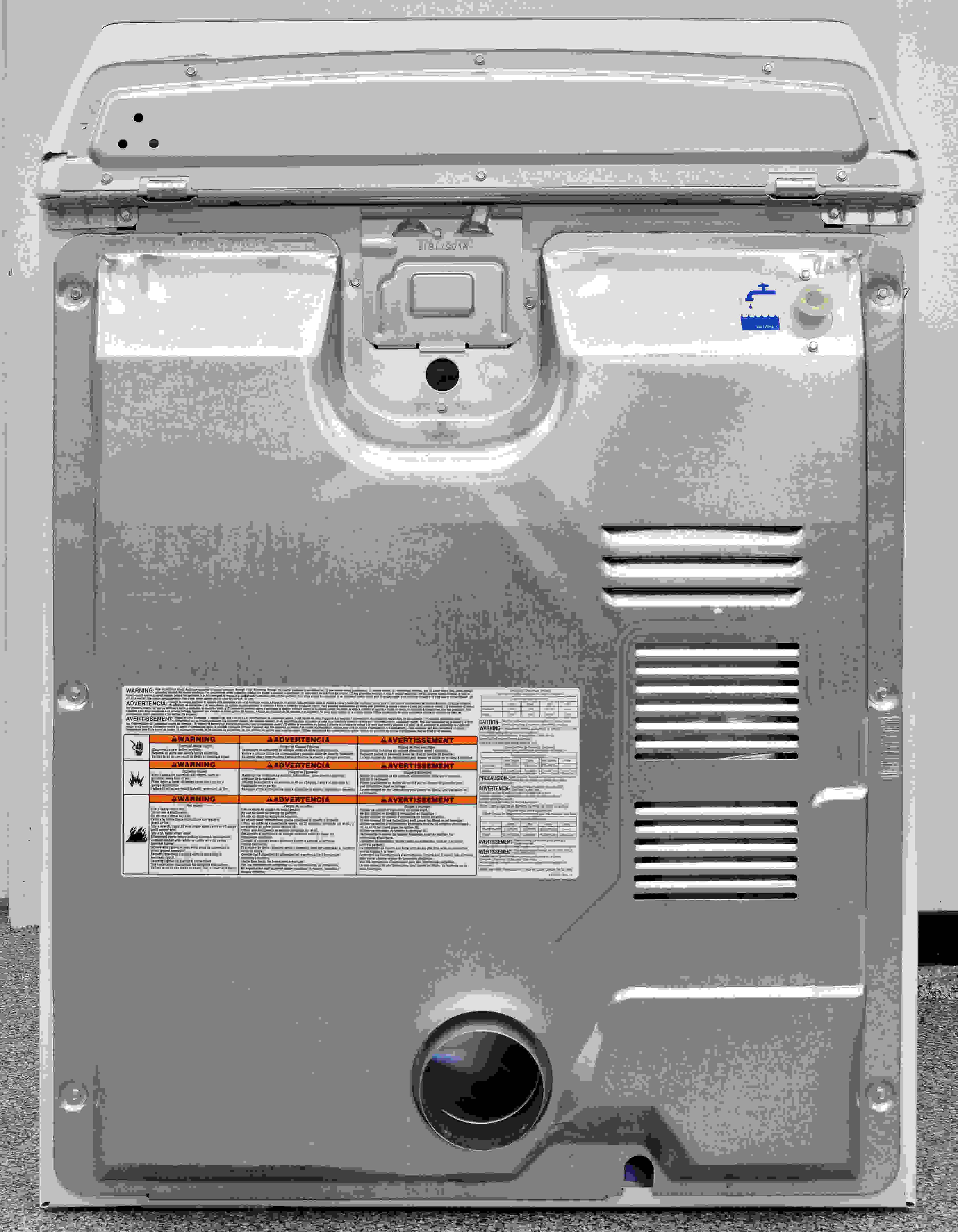 Despite its affordable price, the Maytag Bravos MEDB755DW includes a water hookup for steam.