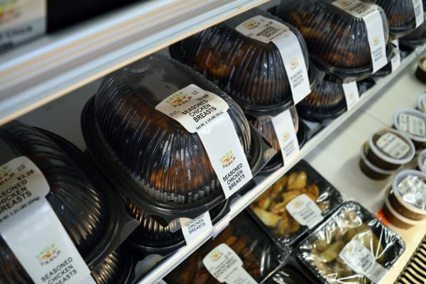 These rotisserie chickens are more affordable than any I've seen in a conventional grocery store.