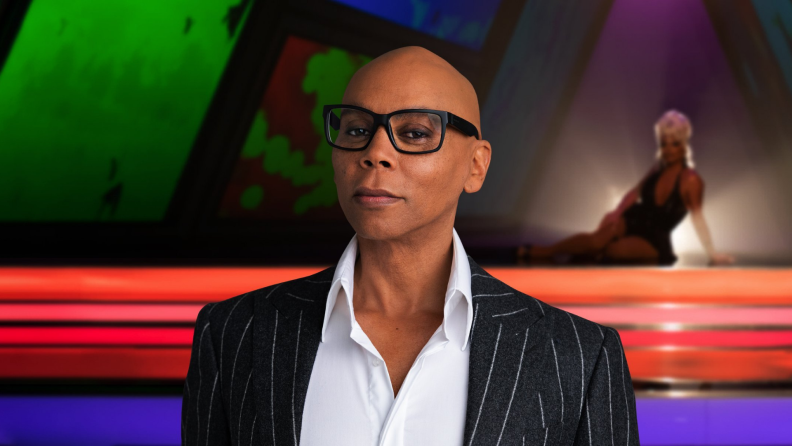 A portrait of RuPaul Charles for Masterclass.