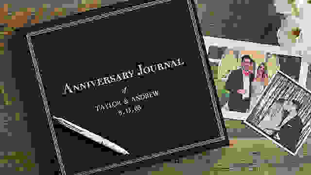 Anniversary journal with couple pictures
