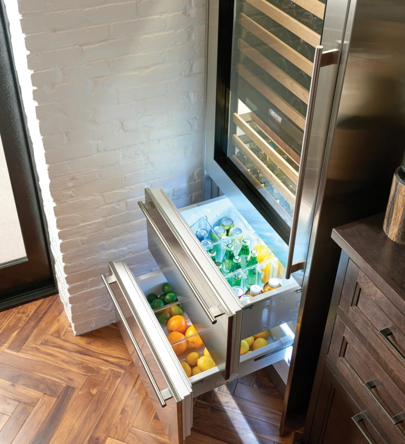 Sub-Zero Beverage Fridge