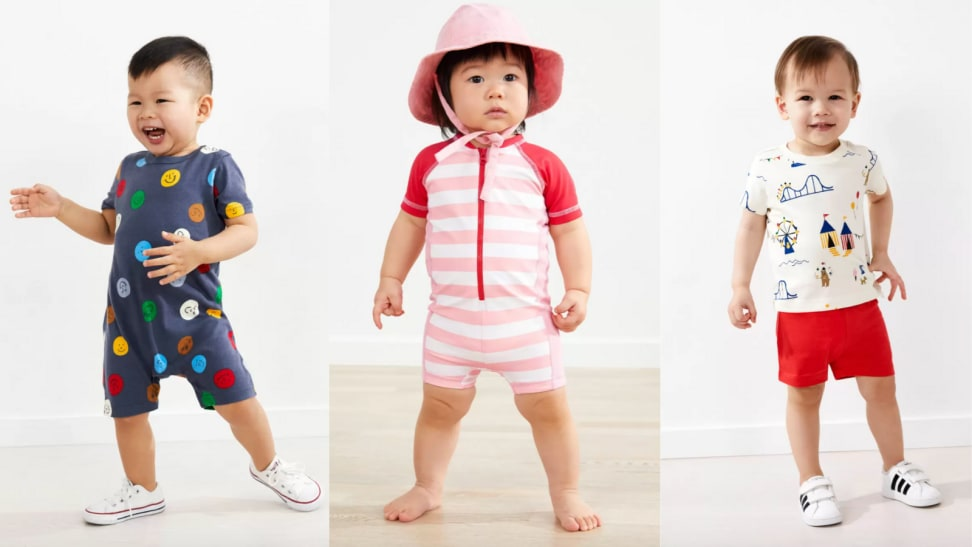 Babies in summer outfits
