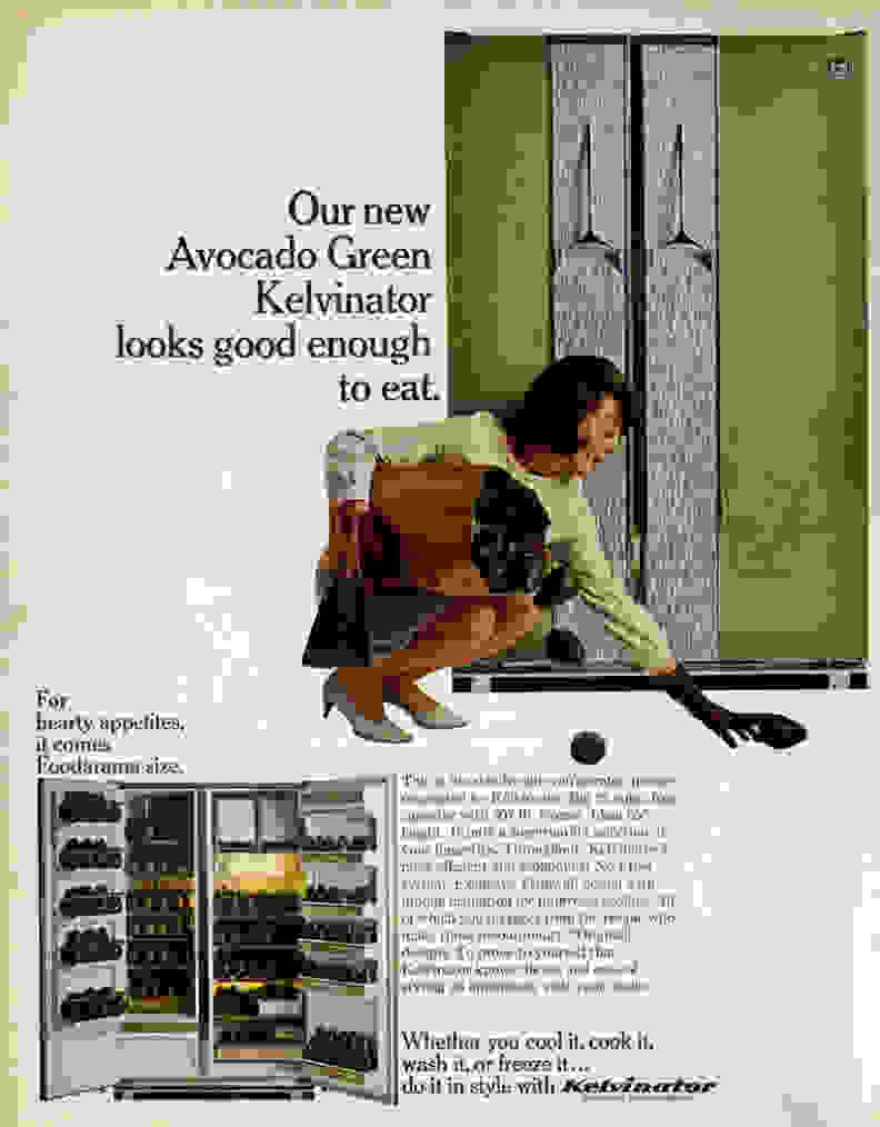 Kelvinator Avocado Fridge