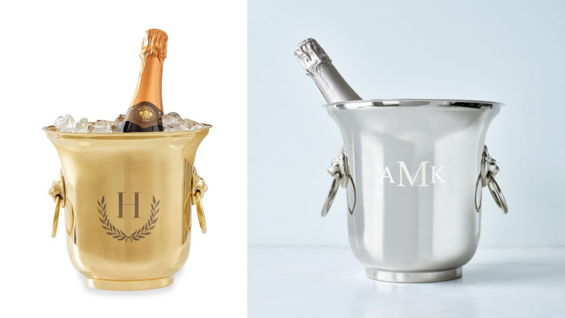Best engagement gifts: Monogrammed ice bucket