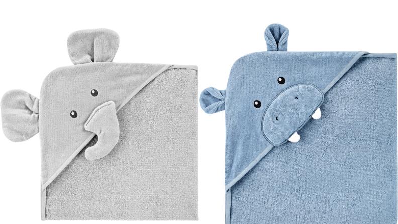 eighteen hooded towels