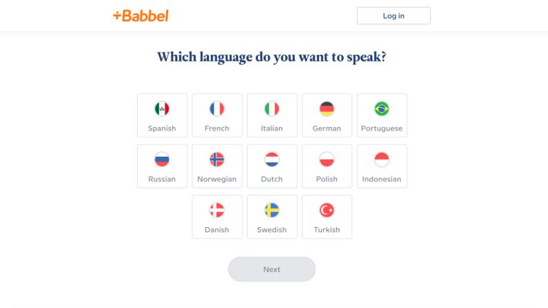 Babbel languages