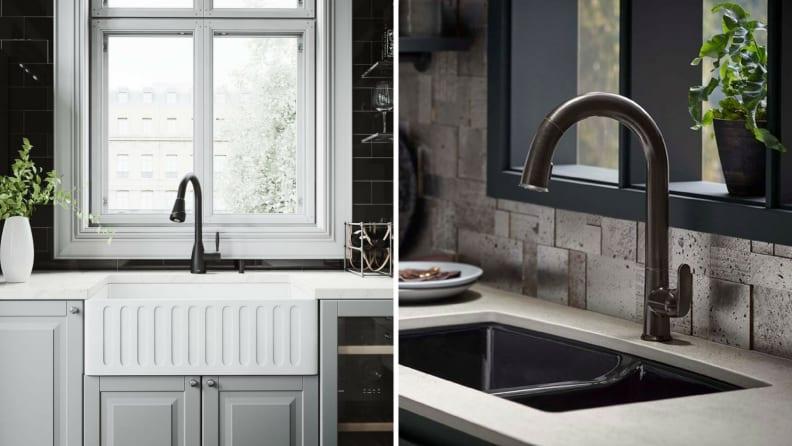 black faucets - الجديد في عالم المطابخ 2020 من اجهزه وتحديثات