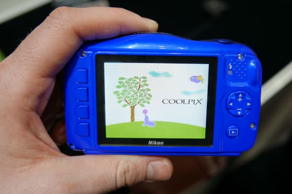 The S33's menu system is simplified compared to other Coolpix cameras, with storybook illustrations and very basic options.