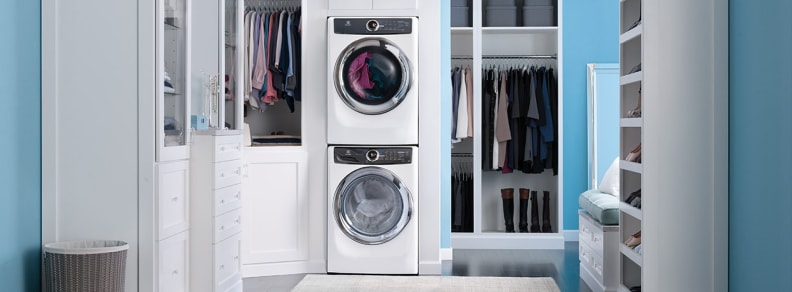Here's what the 517SIW washer and dryer might look like stacked in your laundry room.