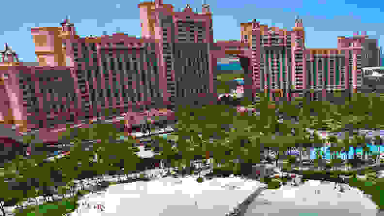 A photograph of the Atlantis Resort in the Bahamas