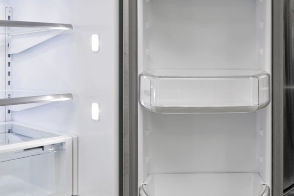 The Whirlpool WRF757SDEM's right fridge door is your go-to option for gallon-sized storage.