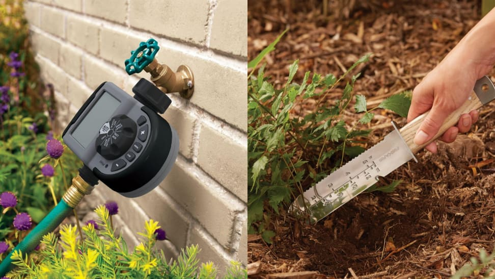 Garden tools for beginners: hose timer and soil knife