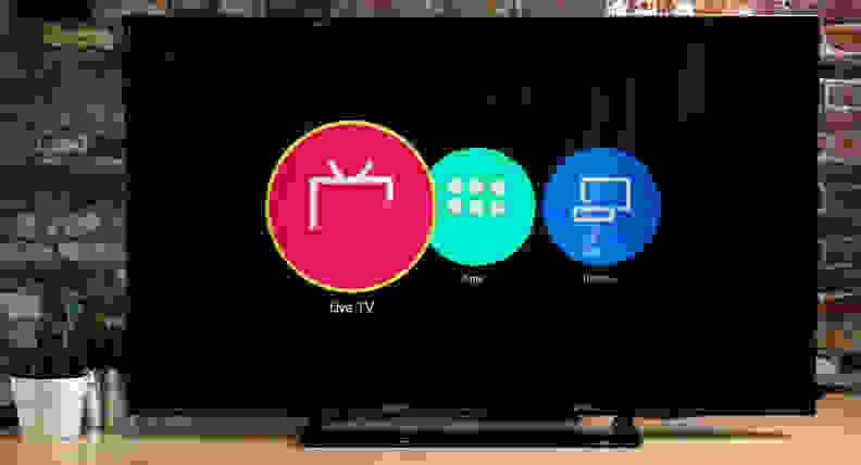 Panasonic TC-50CX600U Smart Platform Home Screen