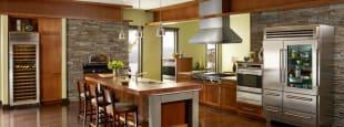 Subzero wolf kitchen appliances rustic