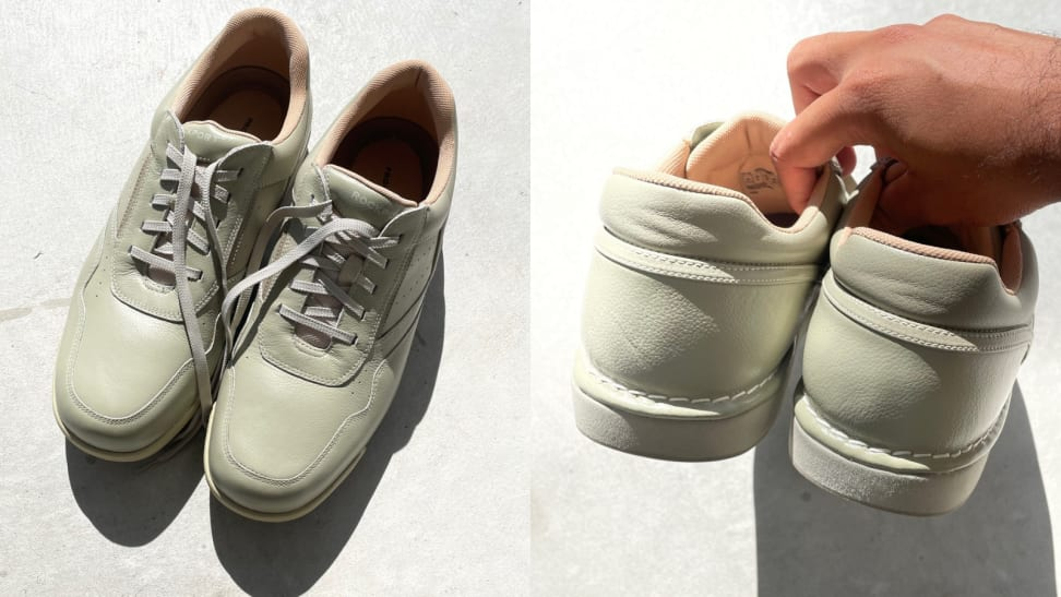 pair of green Rockport Prowalker M7100 shoes