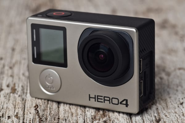 A photograph of the GoPro Hero 4 Black's front side.