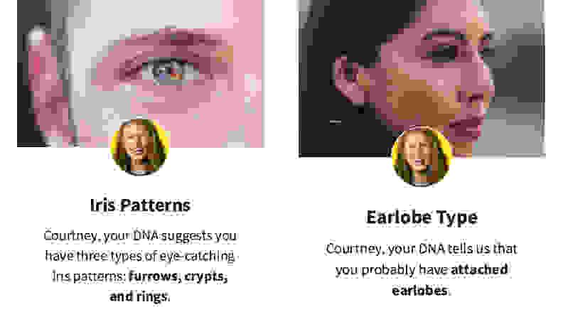 AncestryDNA Traits Iris Patterns and Earlobe