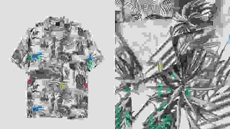 floral resort camp collar shirt from H&M