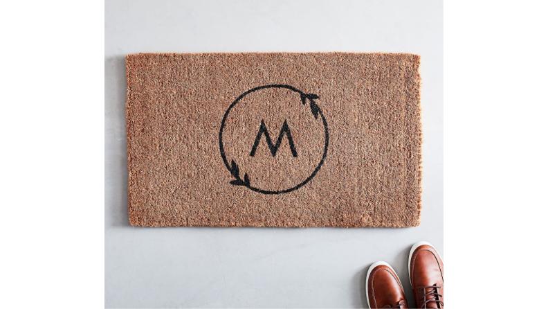 Best engagement gifts: Monogrammed doormat