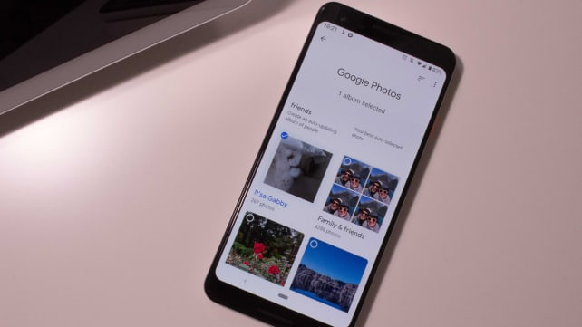 Google photo app on a smartphone