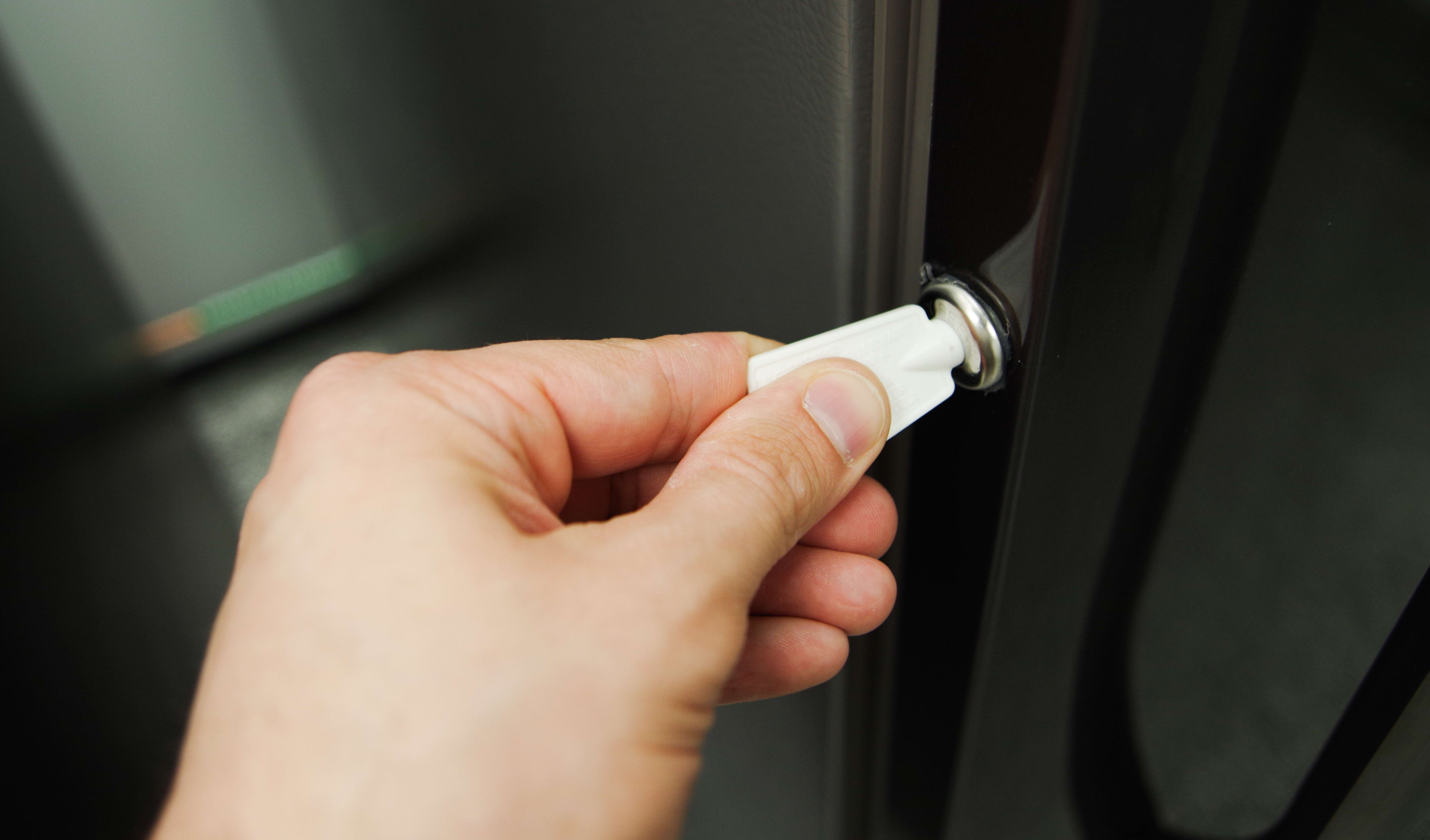 Even fancy freezers like the Frigidaire FFU17F2PT can make use of a door lock.