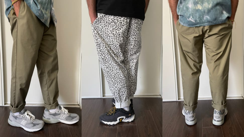 Two different styles of Cookman USA chef pants