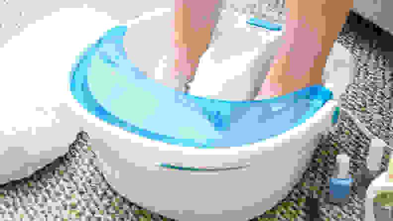 HoMedics Bubble Spa Elite Footbath with Heat Boost Feet